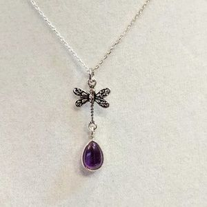 Jewelry - Amethyst Dragonfly Pendent